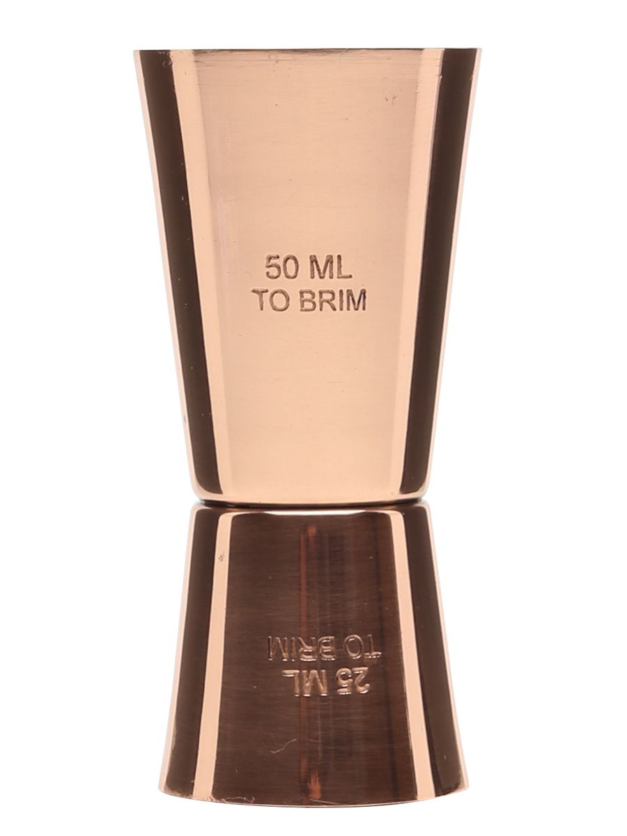 A copper double-sided 50ML jigger.