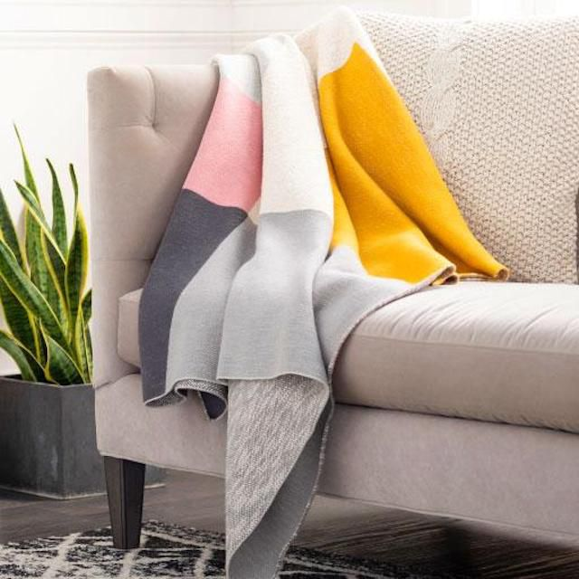 Colorblock Throw Blanket