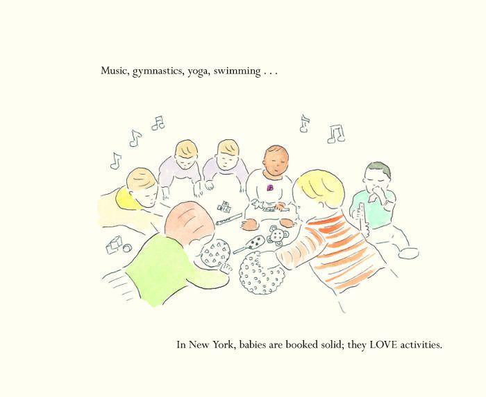 Una ilustración de niños estadounidenses haciendo actividades