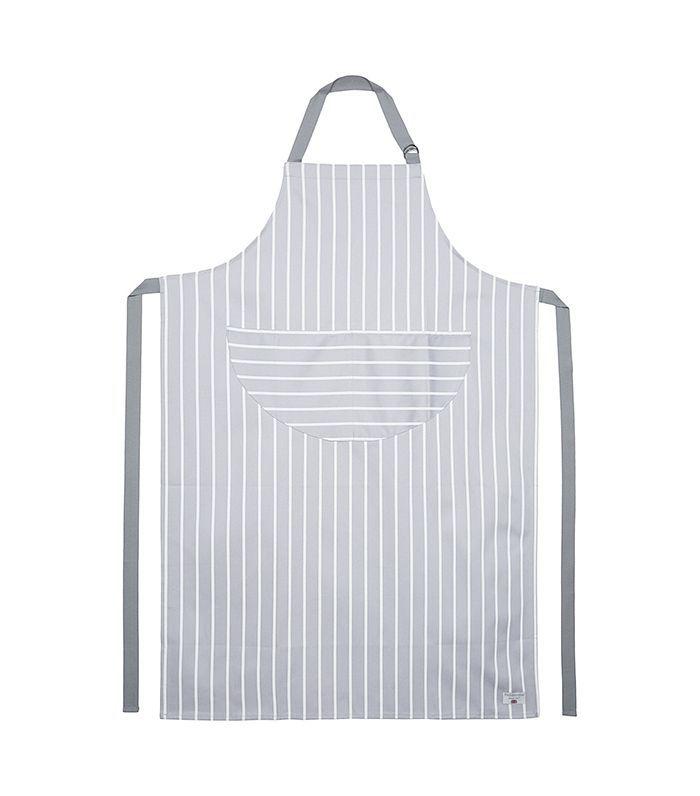 Butchers stripe cotton apron