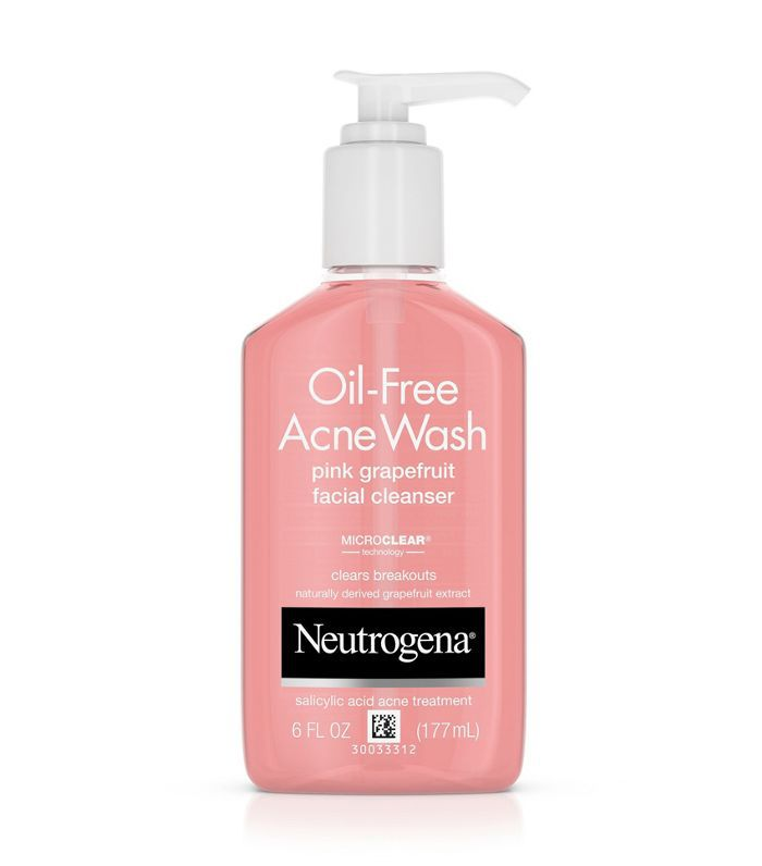 Neutrogena Oil-Free Pink Grapefruit Acne Facial Cleanser Best Skincare at Target