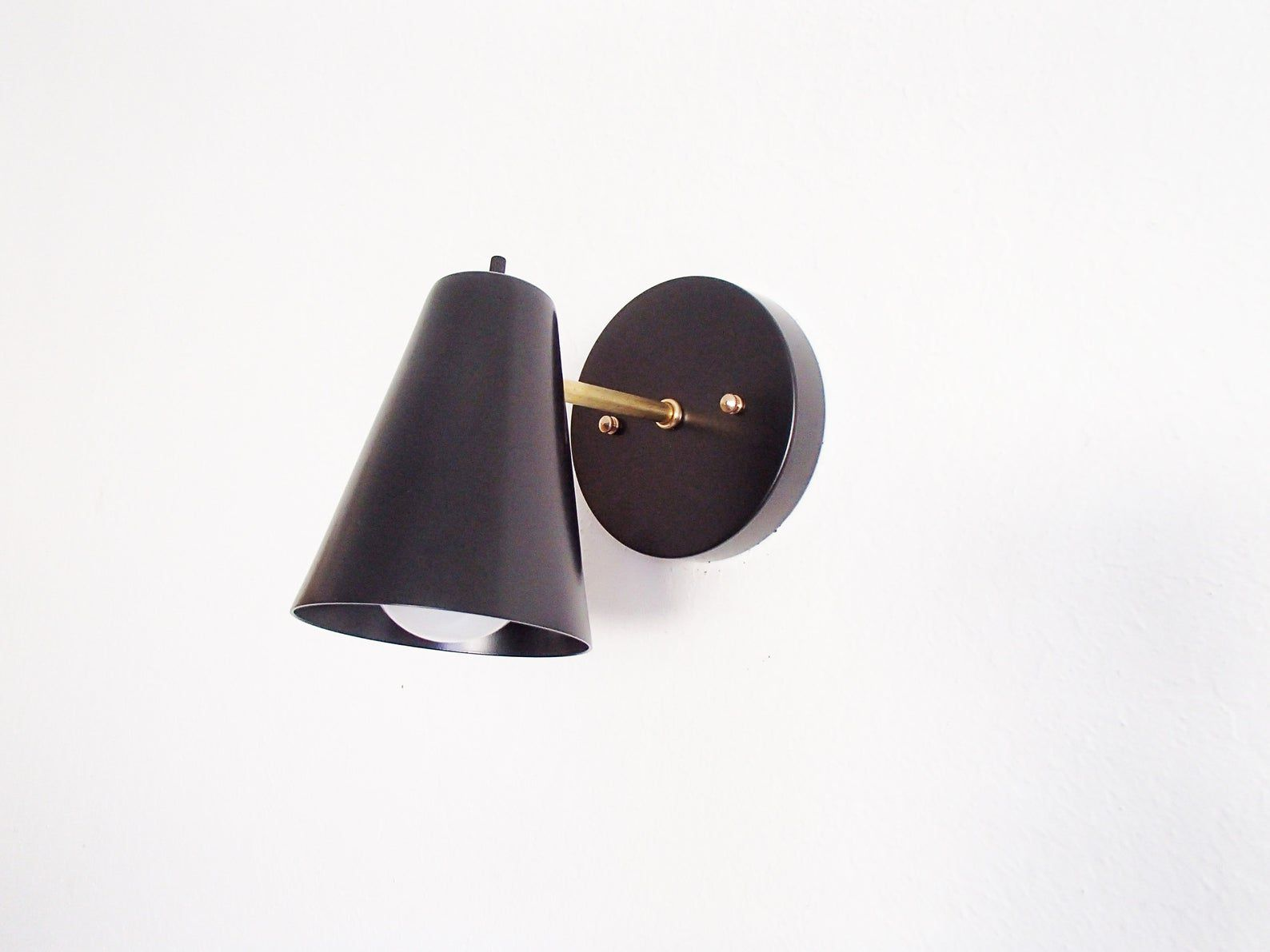 cone shade sconce