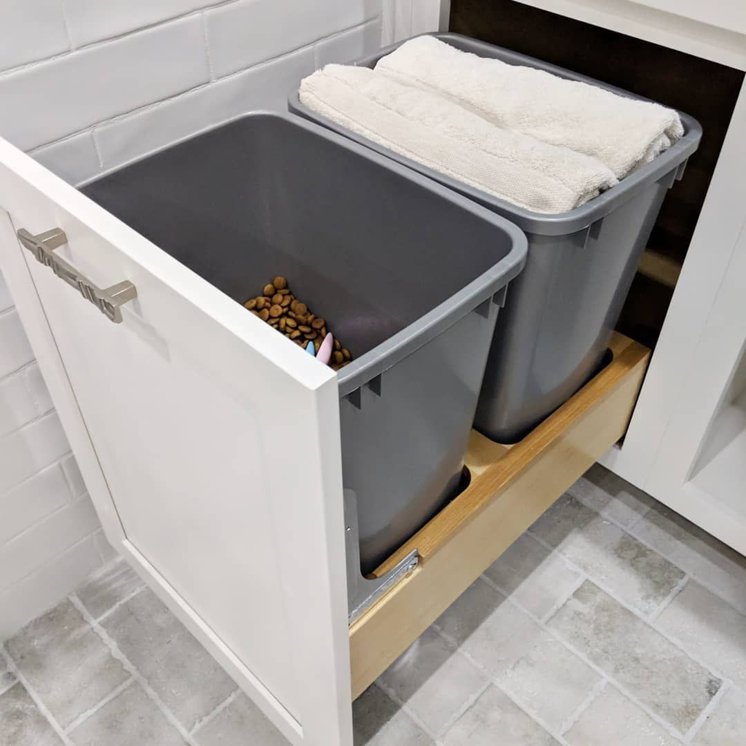 bins with towels