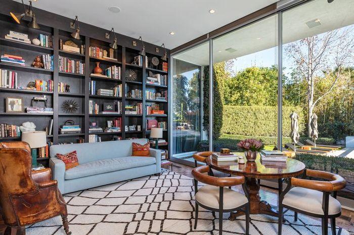 Ellen Degeneres Beverly Hills Home   Library