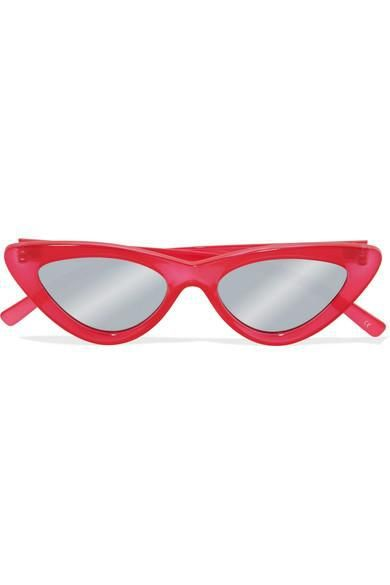 Adam Selman The Last Lolita Cat-eye Acetate Mirrored Sunglasses