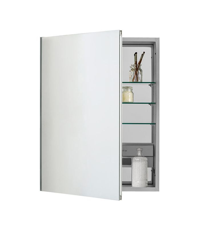 small bathroom shelving Inset Unbeveled Electric Medicine Cabinet