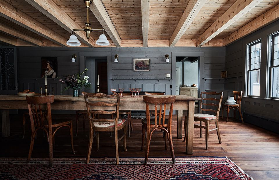 Rustic room with dining table