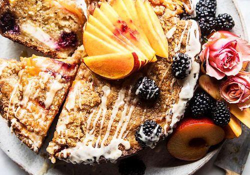 summer dessert recipes: peach coffee cake