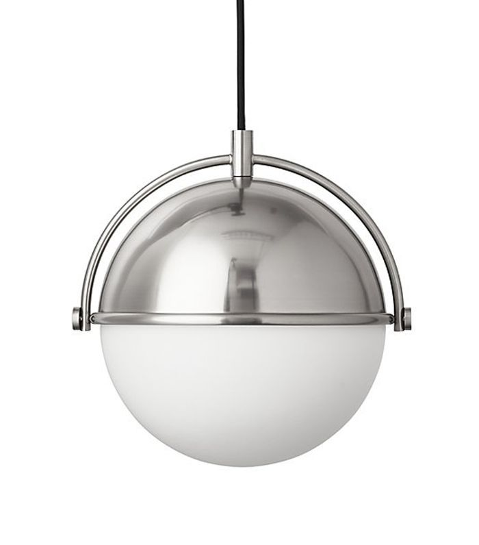 Globe Small Brushed Nickel Pendant Light