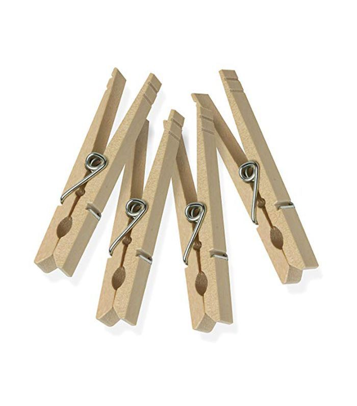 DRY-01375 Wood Clothespins with Spring, 50-Pack, 3.3-inches Length