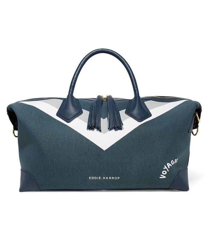Voyager Leather-trimmed Printed Canvas Weekend Bag