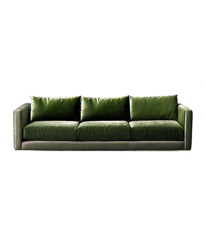 Chamberlin Velvet Sofa - Green One Size at Urban Outfitters