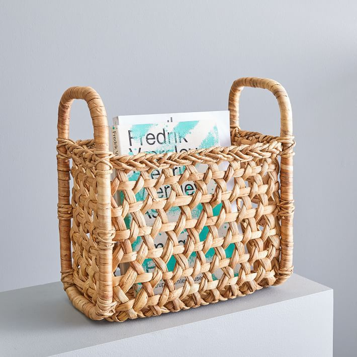 West Elm Hyacinth Magazine Basket