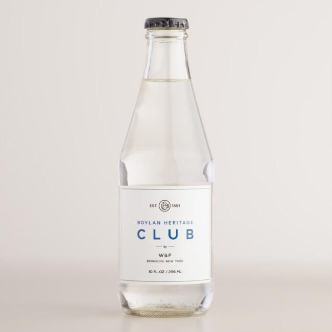 Bottle of club soda.
