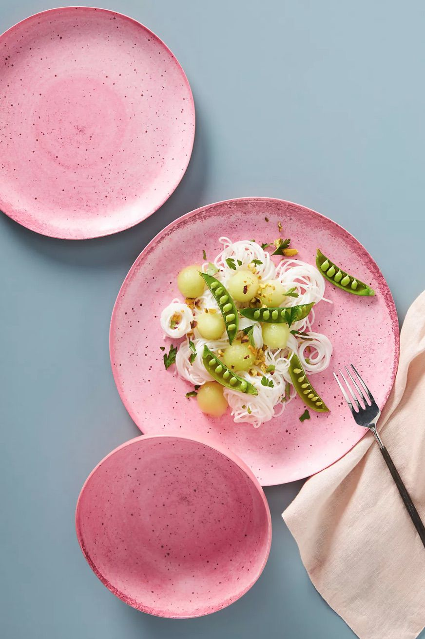 Gigi Bamboo Melamine Dinner Plates, Set of 4