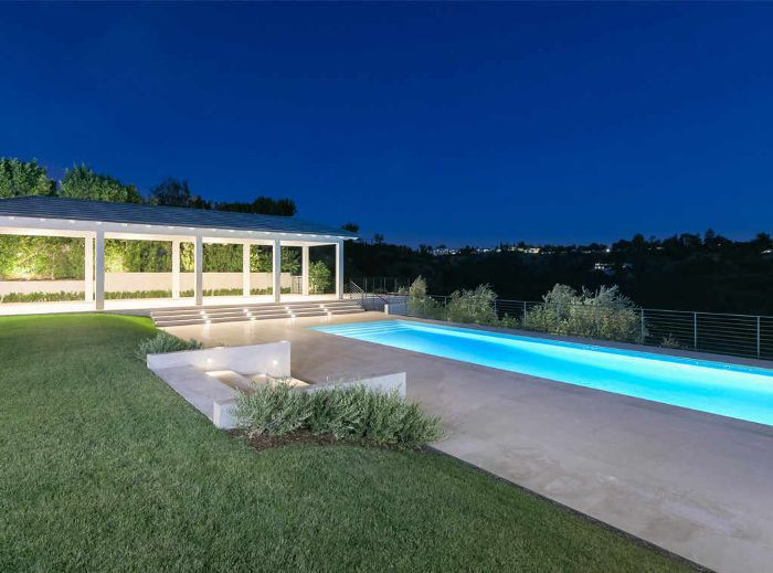 the pool at Kim Kardashian and Kanye West's Bel Air estate