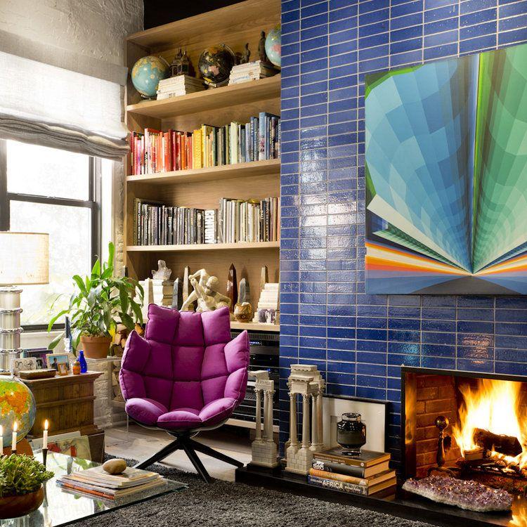 Rikki Snyder eclectic modern reading room.
