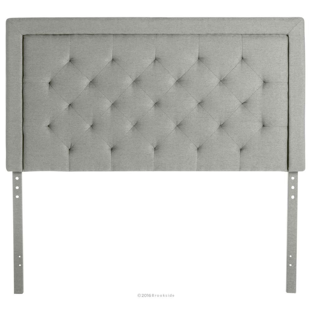 Upholstered Stone Queen with Diamond Tufting Headboard—Home Depot Spring Sale