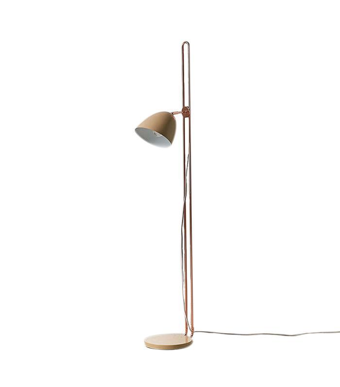 Inga Adjustable Floor Lamp - Beige One Size at Urban Outfitters
