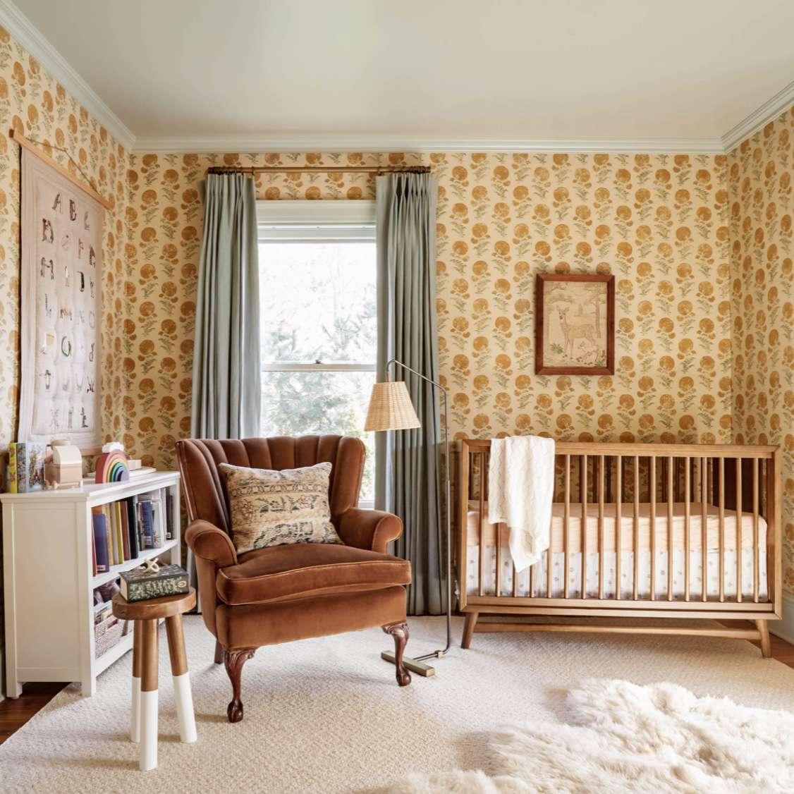 rikki snyder curtains in nursery
