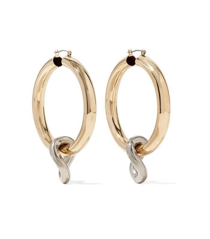Onda Gold And Silver-tone Hoop Earrings