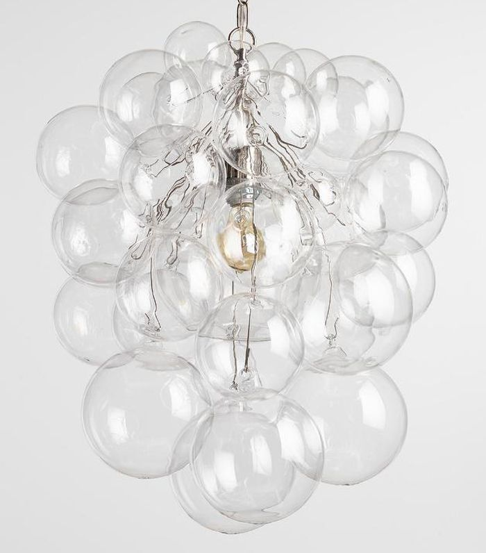 Bubble Glass Orb Chandelier: White by World Market