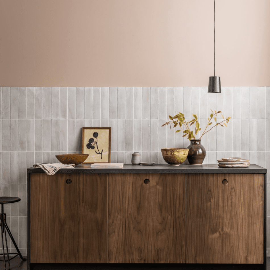 Marble stacked bond subway tile