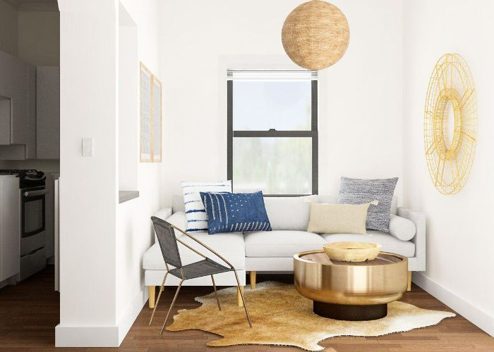 The 10 Narrow Room Layout Tips You Need From A Style Expert