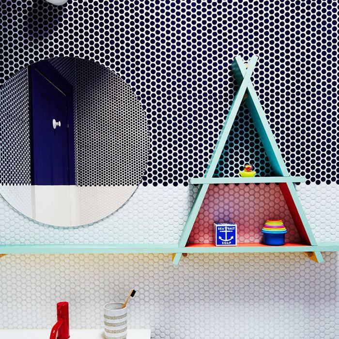 Ideas de decoración que bloquean el color para el baño