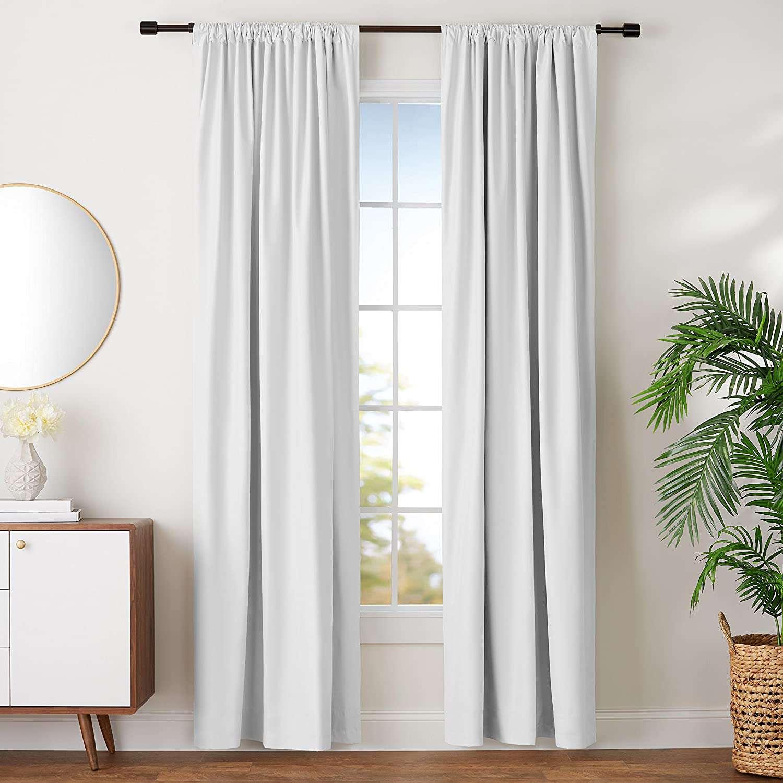 Record Name Amazon Basics Room-Darkening Blackout Curtains with Tie Backs