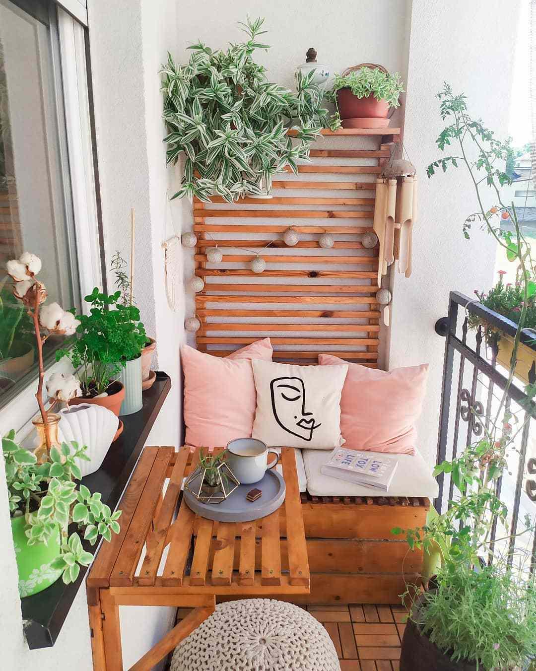 balcony with wall shelving