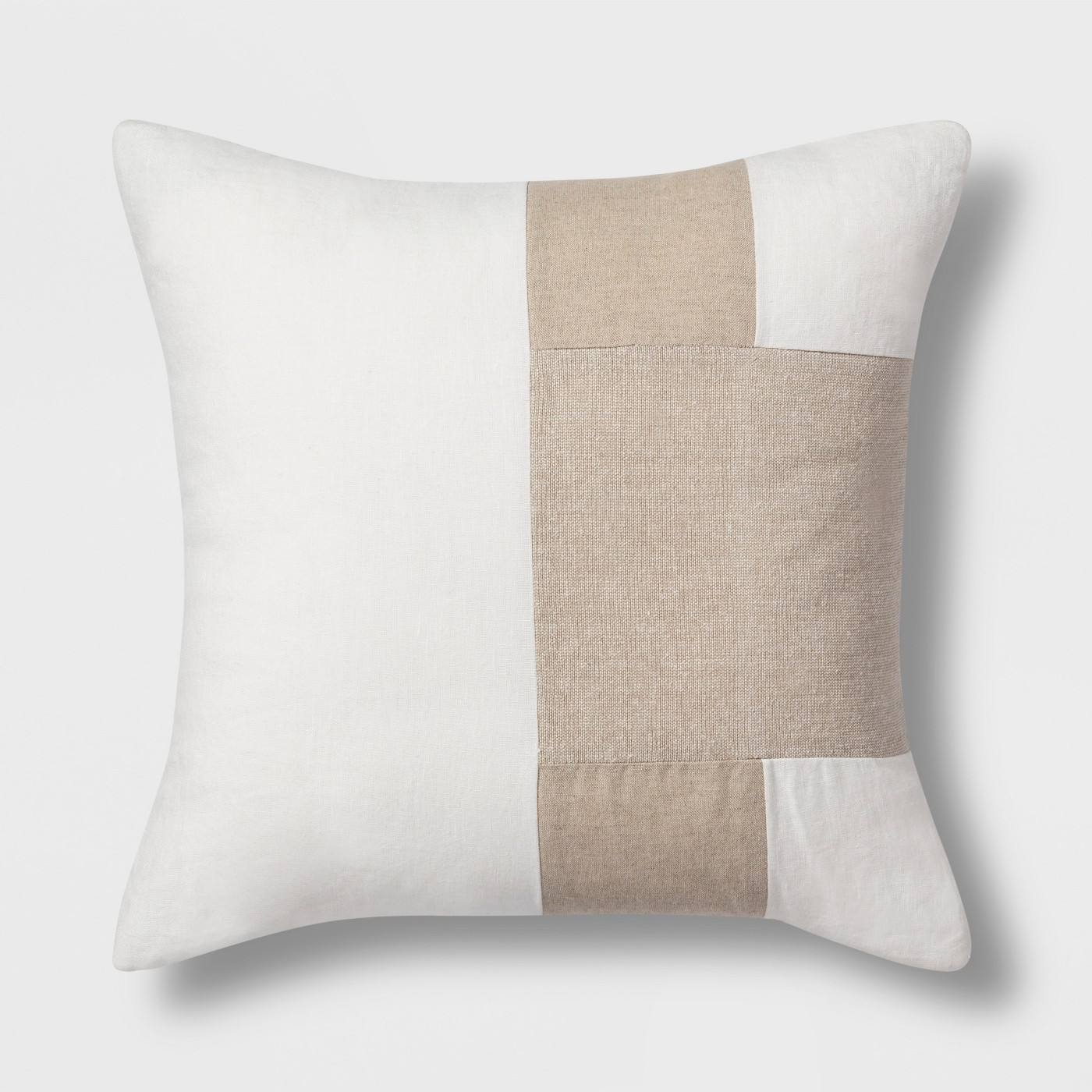 Colorblock Square Throw Pillow Nuetral