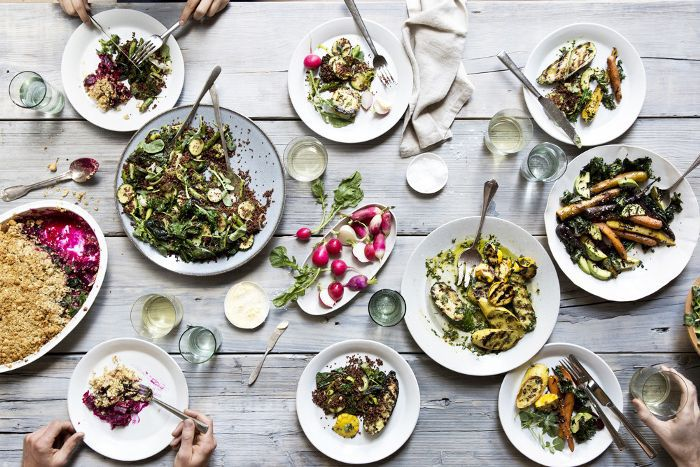 Array of healthy dishes