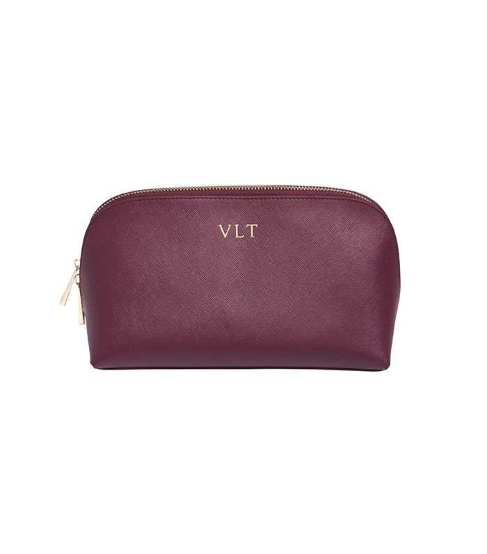 The Daily Edited Burgundy Large Cosmetic Case