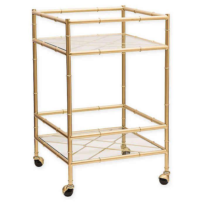 gold bar cart