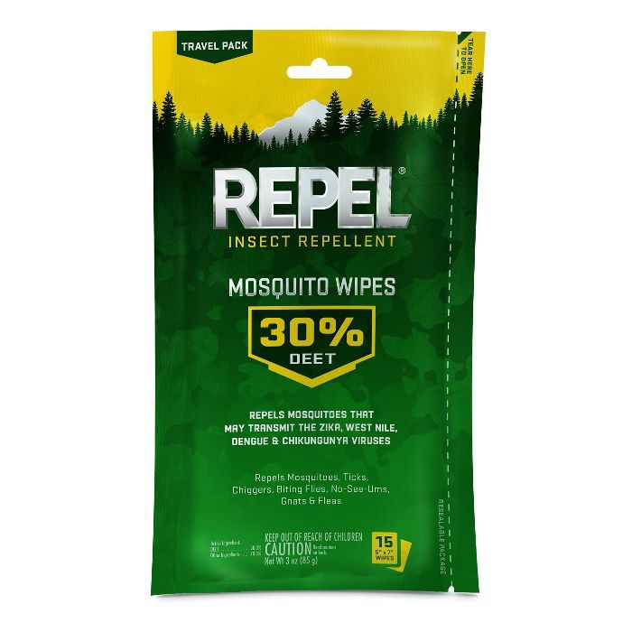 Repel Sportsmen Mosquito Repellent Wipes