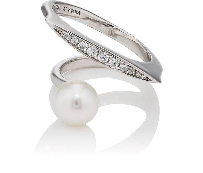 Women's Imitation-Pearl & Cubic Zirconia Ring