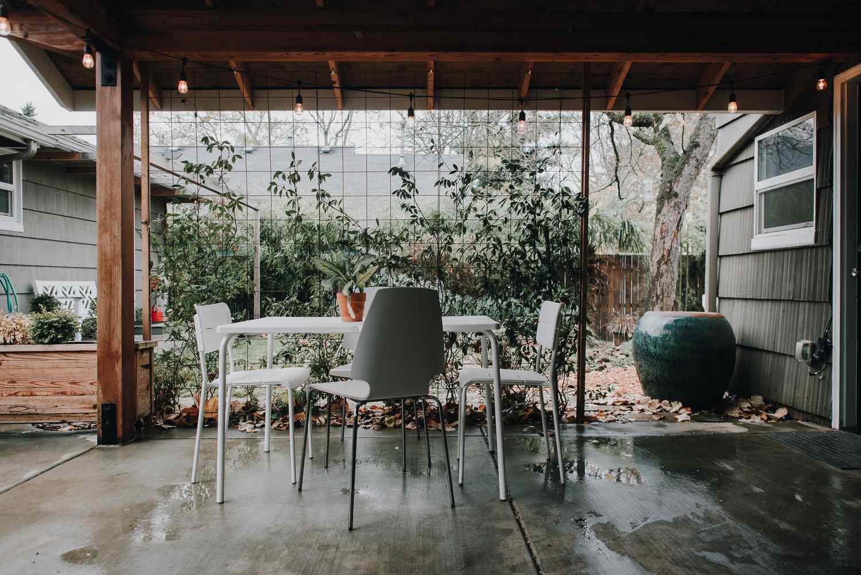 Rustic outdoor patio