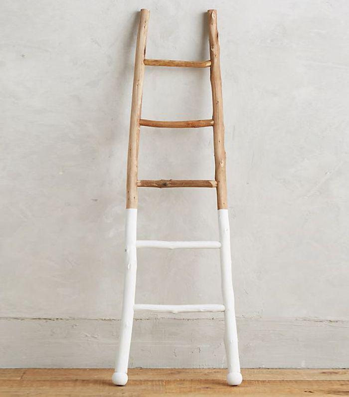 Anthropologie White-Dipped Ladder