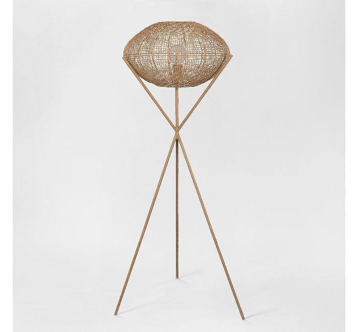 Project 62 + Leanne Ford Natural Woven Tripod Lamp