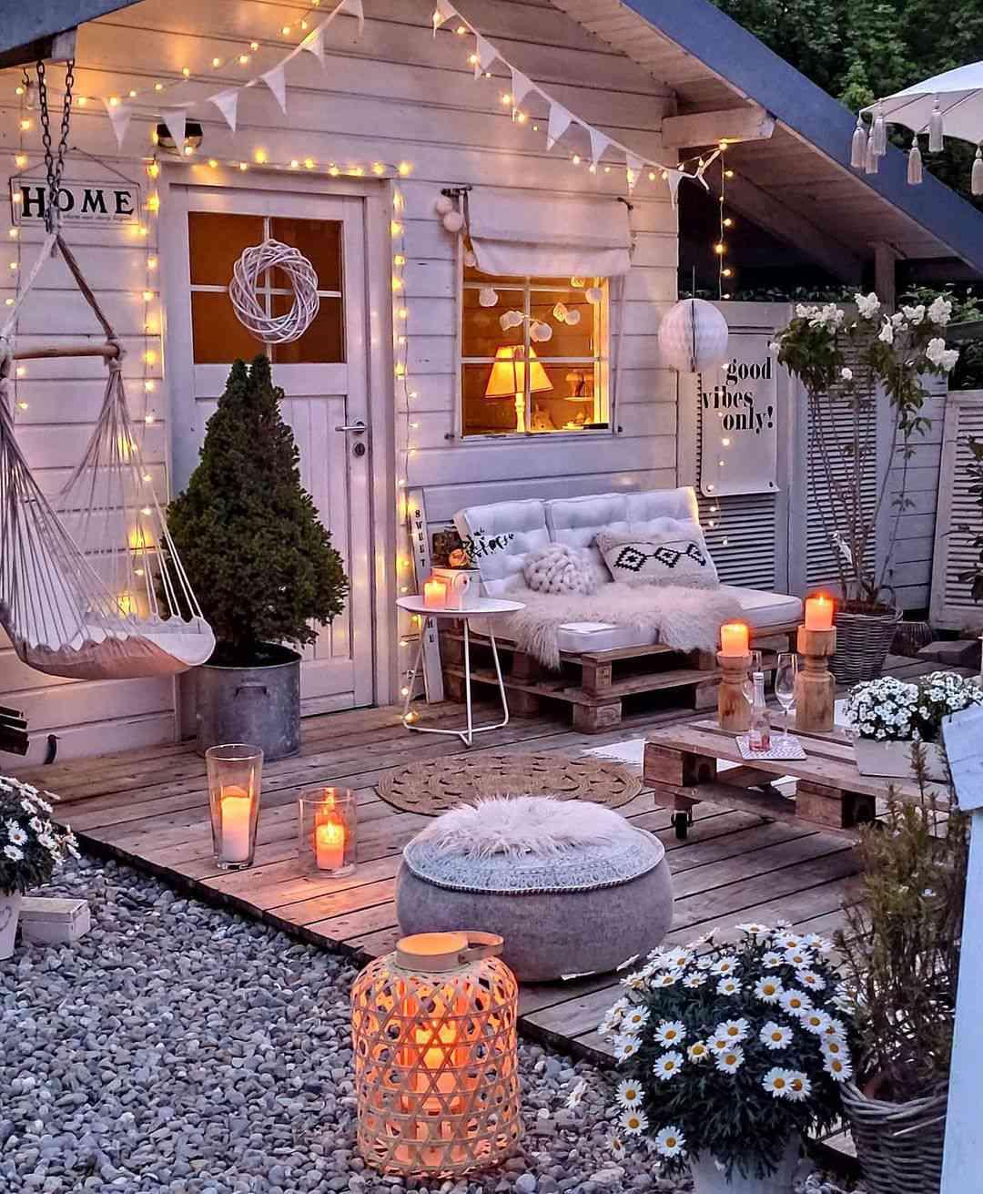 outdoor party idea nighttime