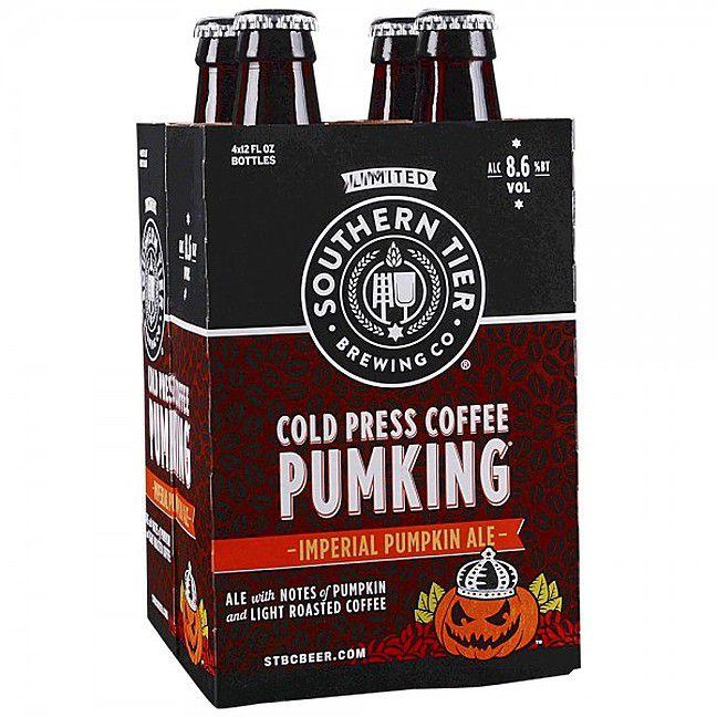 A four-pack case of pumpkin beer.