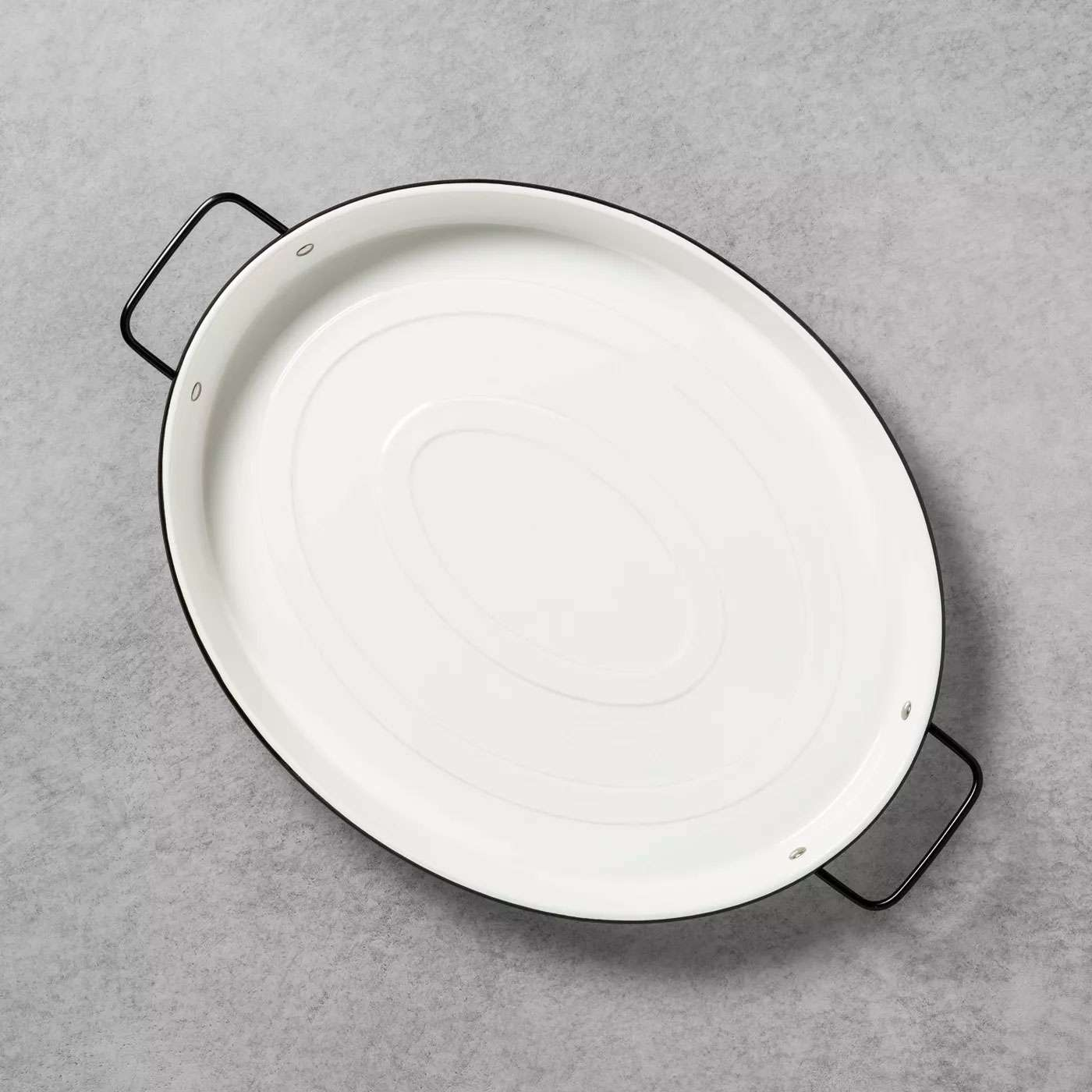 hearth and hand with magnolia oval enamelware serve tray