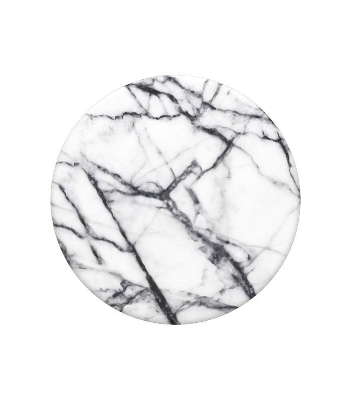 Popsockets product photo in black and white marble style
