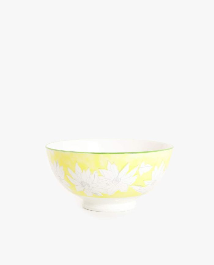 Zara Home Floral Porcelain Salad Bowl
