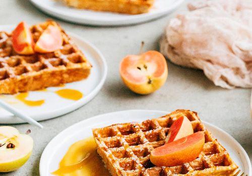 Waffles de sidra de manzana