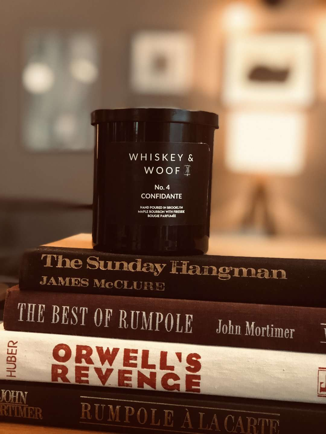 Whiskey & Woof No. 4 CONFIDANTE: Maple Bourbon& Musk Scented Candle