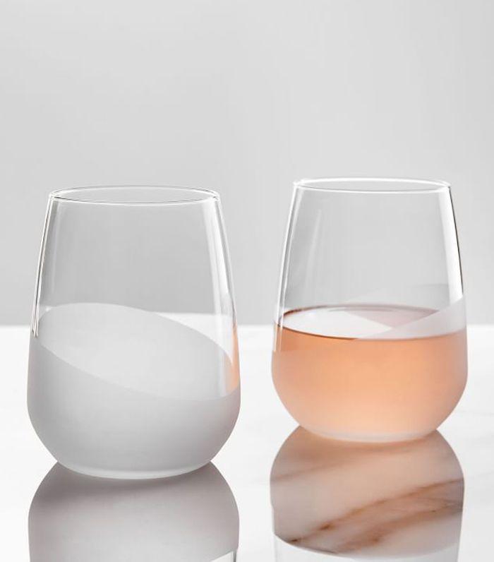 West Elm Half-Dipped Glassware, Set of 6