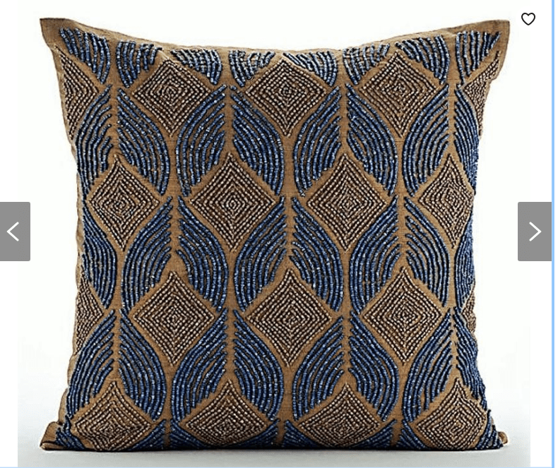 Beaded Moroccan Pillow Cover