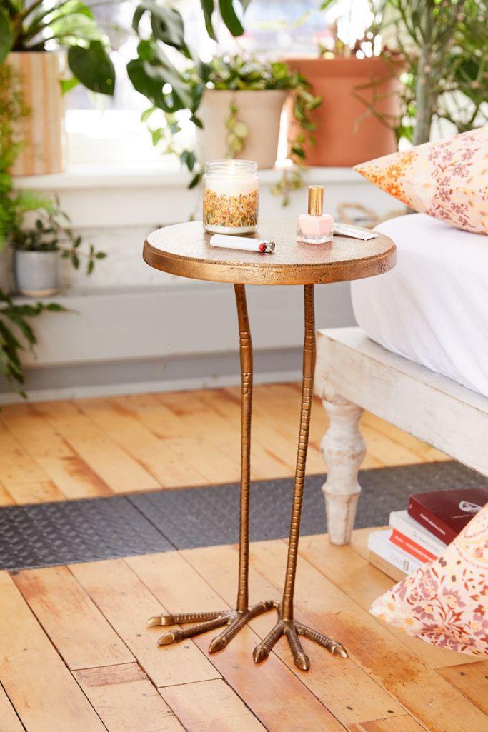 table with bird feet